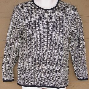 MONDI Sweater, 34/S, 2 color Cable knit, Pullover